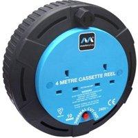 Masterplug 2 Socket 10A Cable Reel (L)4m