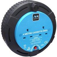 Masterplug 2 socket Cable reel 4m