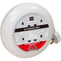 Masterplug 4 socket Cable reel 4m.