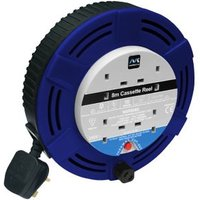 Masterplug 4 socket Cable reel 8m.