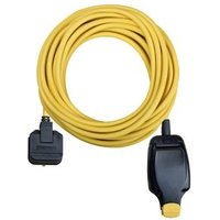 Masterplug 1 socket 13A Yellow Extension lead 10m