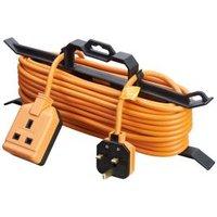 Masterplug 1 socket Orange Extension lead 15m