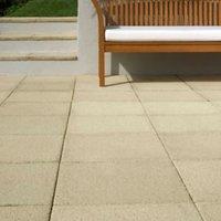 Buff Textured Single paving slab (L)450mm (W)450mm