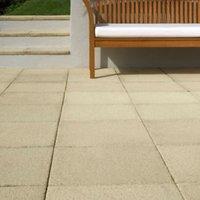 Textured Buff Paving slab (L)600mm (W)600mm