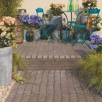 Charcoal Carpet Stones Cobble mat Straight 1.2m (W)400mm