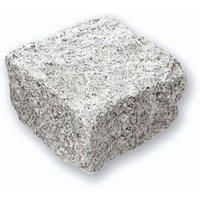 Natural Granite Silver grey Sett (L)100mm (W)100mm  Pack of 900
