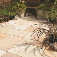Fossil buff Paving (L)600mm (W)600mm Pack of 40  14.9 m²