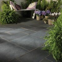 Blue black Paving slab (L)600mm (W)600mm  Pack of 40