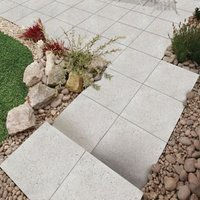 White Panache Ground Paving slab (L)450 (W)450mm Pack of 40