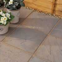 Brown blend Derbyshire Paving slab (L)450mm (W)450mm