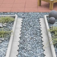 Round Top Paving Edging Grey  (L)600mm (H)150mm (T)50mm Pack of 48