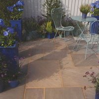 Colonial brown Paving (L)600mm (W)600mm Pack of 48  17.86 m²