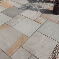 Rustic grey Paving set 17.86m²  Pack of 48