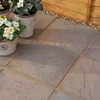 Brown Blend Derbyshire Paving Slab (L)450 (W)450mm Pack of 76