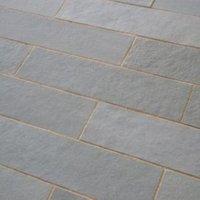 Azure grey Natural Limestone Paving slab (L)800mm (W)200mm of 60  9.90 m²