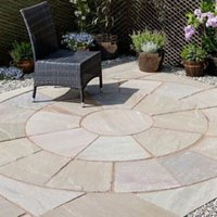 Natural Sandstone Autumn green Paving set 4.75m²  Pack of