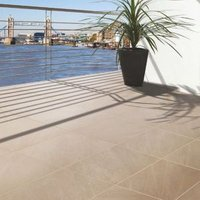 Beige Mode Porcelain Paving Slab (L)600 (W)600mm Pack of 60