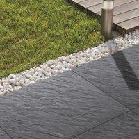 Dark grey Mode porcelain Paving slab (L)600 (W)600mm Pack of