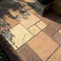 Natural Sandstone Brown Paving slab (L)600mm (W)600mm