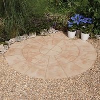 Autumn cotswold Old Riven Circle paving pack 2.4m