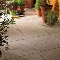 Moorland cream Derbyshire Single paving slab (L)450mm