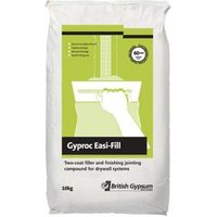 Gyproc Easi-fill Quick dry Two-coat filler & jointing compound 10kg Bag