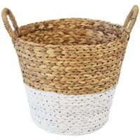 Slemcka Contemporary Water Hyacinth Storage Basket (H)360mm (D)350mm