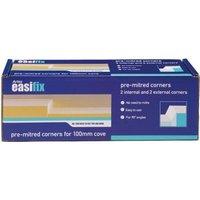 Artex Easifix Classic C-shaped Paper faced plaster External Coving corner (L)340mm (W)95mm Pack of 4