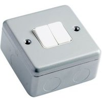 MK 10A 2-Way Double Metal-Clad Metallic Powder Coated Light Switch