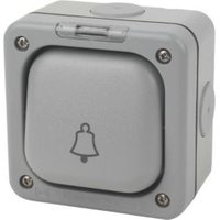 MK Masterseal Plus 10A 1-Way Grey Bell Switch