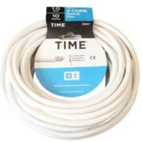 Time 4 Core Round Flexible Cable 1.0mm² 3184Y White 10m
