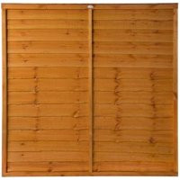 Grange Traditional Overlap Horizontal slat Fence panel (W)1.83 m (H)1.8m