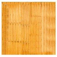 Grange Feather edge Overlap Vertical slat Fence panel (W)1.83 m (H)1.8m  Pack of 3