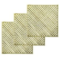 Woodbury Timber Square Trellis Panel (H)1.8M(W)1.8 M  Pack of 3