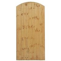 Grange Timber Side Entry Arched Gate (H)1.8M (W)0.9 M