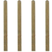 Grange Softwood pine Palisade post (H)1.5m (W)70 mm Pack of 4