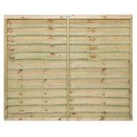 Grange Pro Lap Horizontal waney edge slat Fence panel (W)1.83 m (H)1.5m  Pack of 3