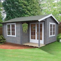 Shire Twyford 14x17 Apex Tongue and groove Wooden Cabin