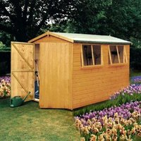 10X8 Atlas Apex Shiplap Wooden Shed with Assembly Service