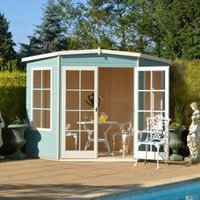 7X7 Hampton Shiplap Timber Summerhouse with Toughened Glass with Assembly Service