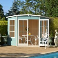 8X8 Hampton Shiplap Timber Summerhouse with Toughened Glass with Assembly Service