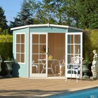 10X10 Hampton Shiplap Timber Summerhouse with Toughened Glass with Assembly Service