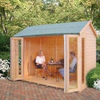 10X8 Blenheim Shiplap Timber Summerhouse with Felt Roof Tiles
