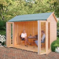 10X8 Blenheim Shiplap Timber Summerhouse with Felt Roof Tiles with Assembly Service