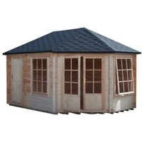 Shire Leygrove 14x10 Apex Tongue and groove Wooden Cabin