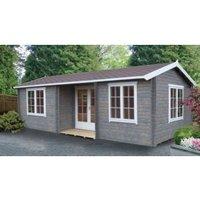 26X14 Elveden 44mm Tongue & Groove Timber Log Cabin with Felt Roof Tiles