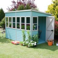 10X10 Sun Shiplap Timber Summerhouse with Assembly Service