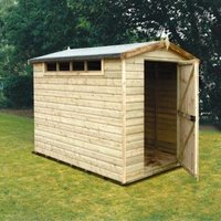 10X6 Security Cabin Apex Shiplap Wooden Shed with Assembly Service