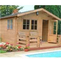 12X12 Kinver 34mm Tongue & Groove Timber Log Cabin