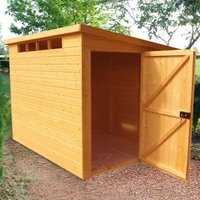 10X8 Security Cabin Pent Shiplap Wooden Shed with Assembly Service
